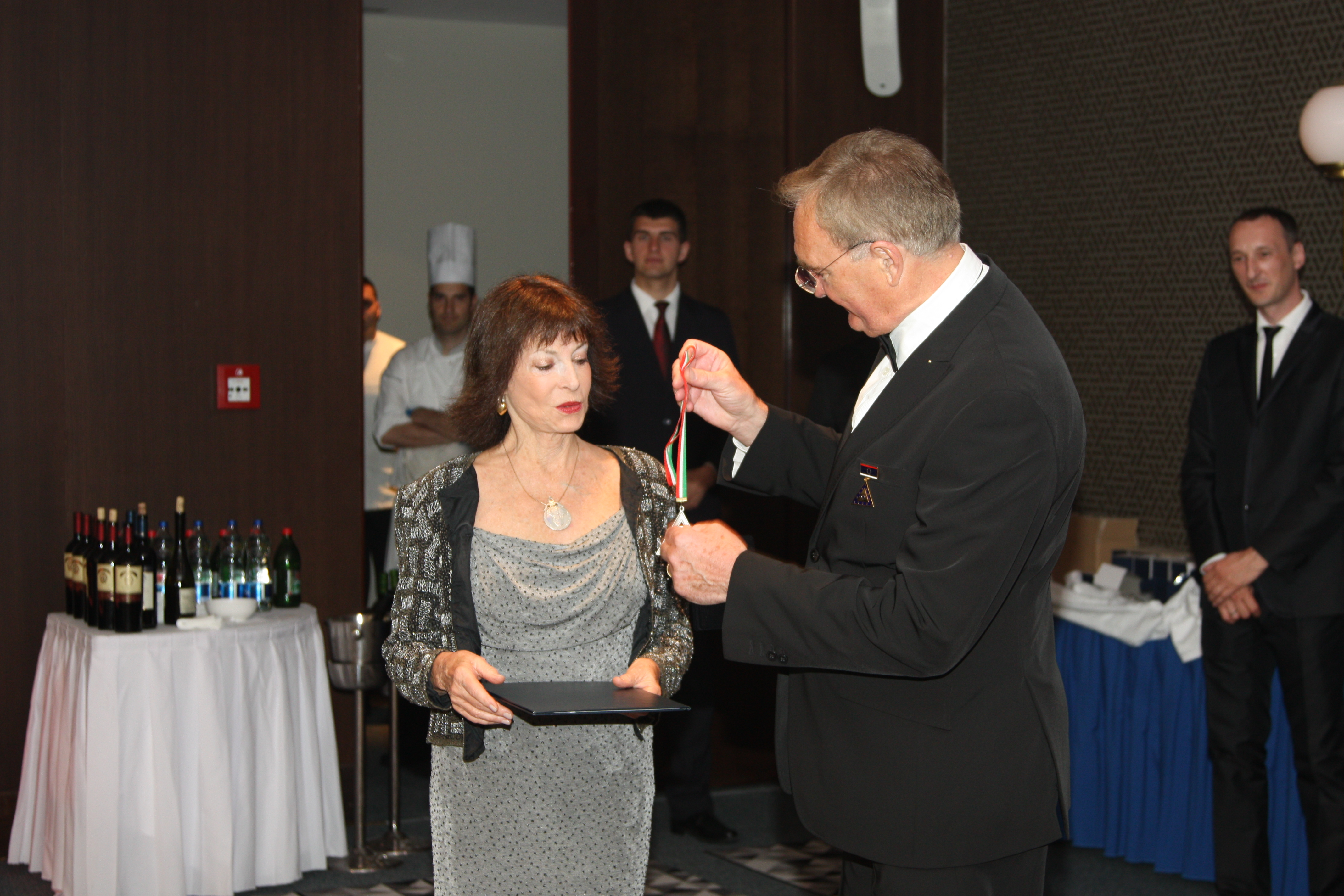 HRH Princess Elisabeth Karadordevic receiving the Galileo Galilei Award
